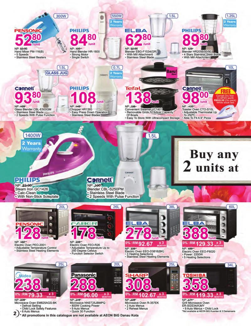 AEON BiG Chinese New Year Appliance Promotion Catalogue (4 January 2019 - 31 January 2019)