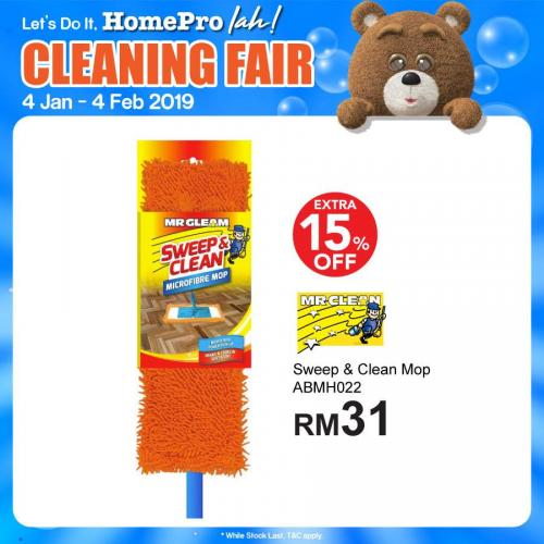 HomePro Cleaning Fair Promotion (4 January 2019 - 4 February 2019)