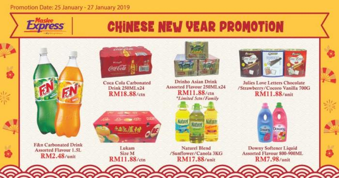 Maslee Chinese new Year Promotion (25 January 2019 - 27 January 2019)