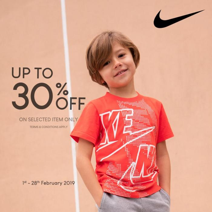 Metrojaya Mid Valley Nike Kid Apparels Promotion Up To 30% OFF (1 February 2019 - 28 February 2019)