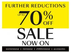 Debenhams Further Reduction Sale up to 70% off