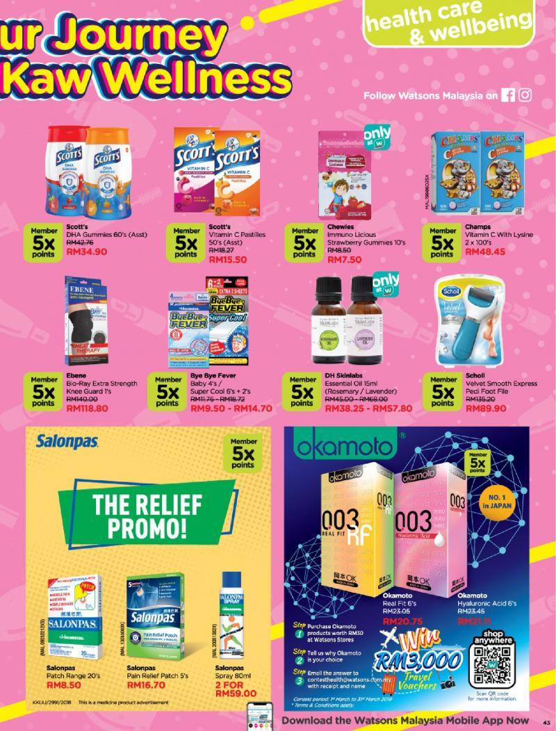 Watsons Promotion Catalogue (5 March 2019 - 1 April 2019)