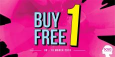 Sasa Buy 1 FREE 1 Promotion (8 March 2019 - 10 March 2019)