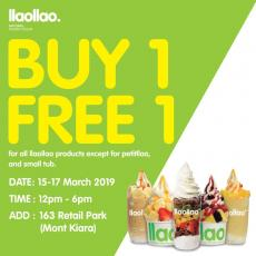 llaollao 163 Retail Park Opening Promotion Buy 1 FREE 1 (15 March 2019 - 17 March 2019)