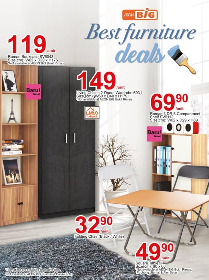 Aeon Big Best Furniture Deals Valid Until 28 March 2019