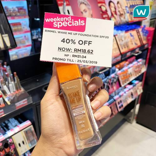 Watsons Weekend Promotion (21 March 2019 - 25 March 2019)