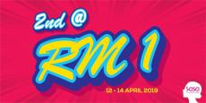 Sasa Weekend Promotion Buy 2nd @ RM1 (12 April 2019 - 14 April 2019)