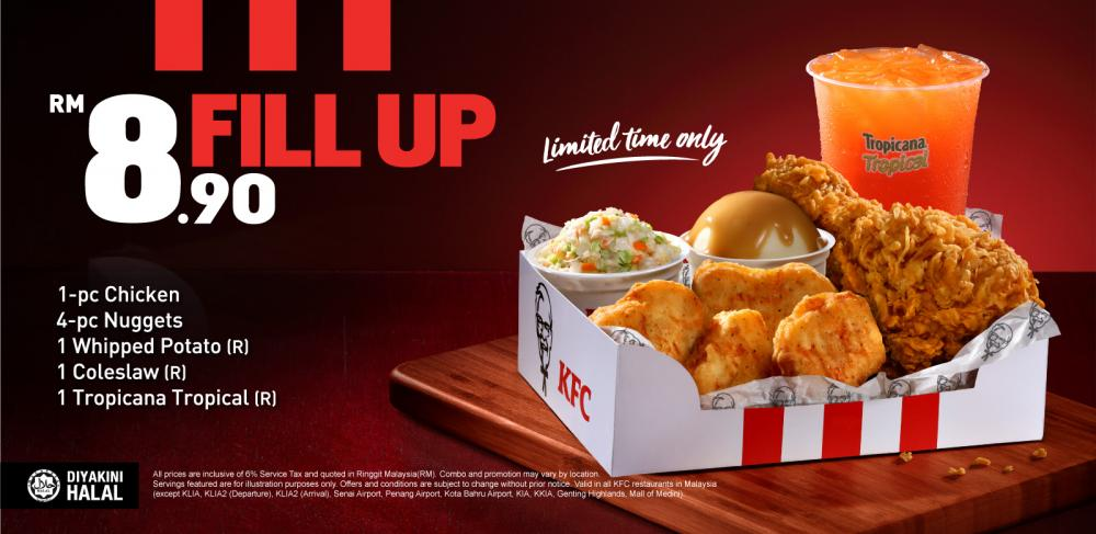 KFC Fill Up Combo for RM8.90