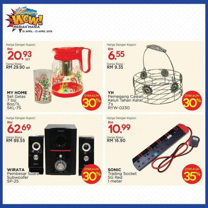 MYDIN Meriah Mania Coupons Promotion (15 April 2019 - 21 April 2019)