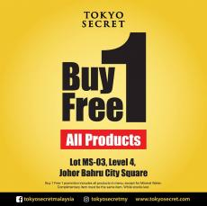 Tokyo Secret JB City Square Buy 1 FREE 1 Moving Out Sale (until 20 April 2019)