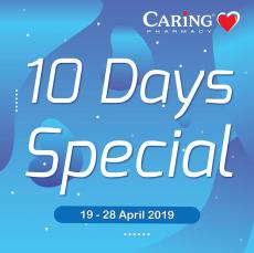CARiNG PHARMACY 10 Days Special Promotion (19 April 2019 - 28 April 2019)