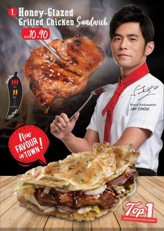 LIANG Sandwich Bar Honey-Glazed Grilled Chicken Sandwich for RM10.90