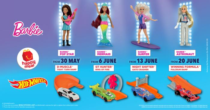 Mcdonald S Free Barbie Amp Hot Wheels Happy Meal Toys 30