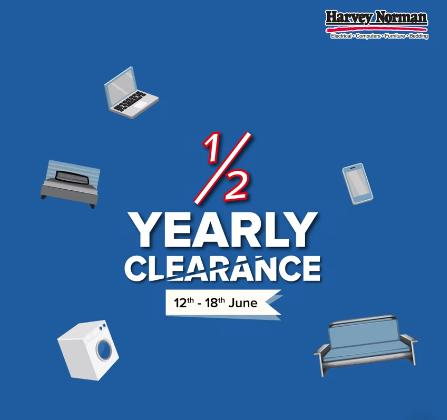 Harvey Norman Half Yearly Clearance (12 June 2019 - 18 June 2019)