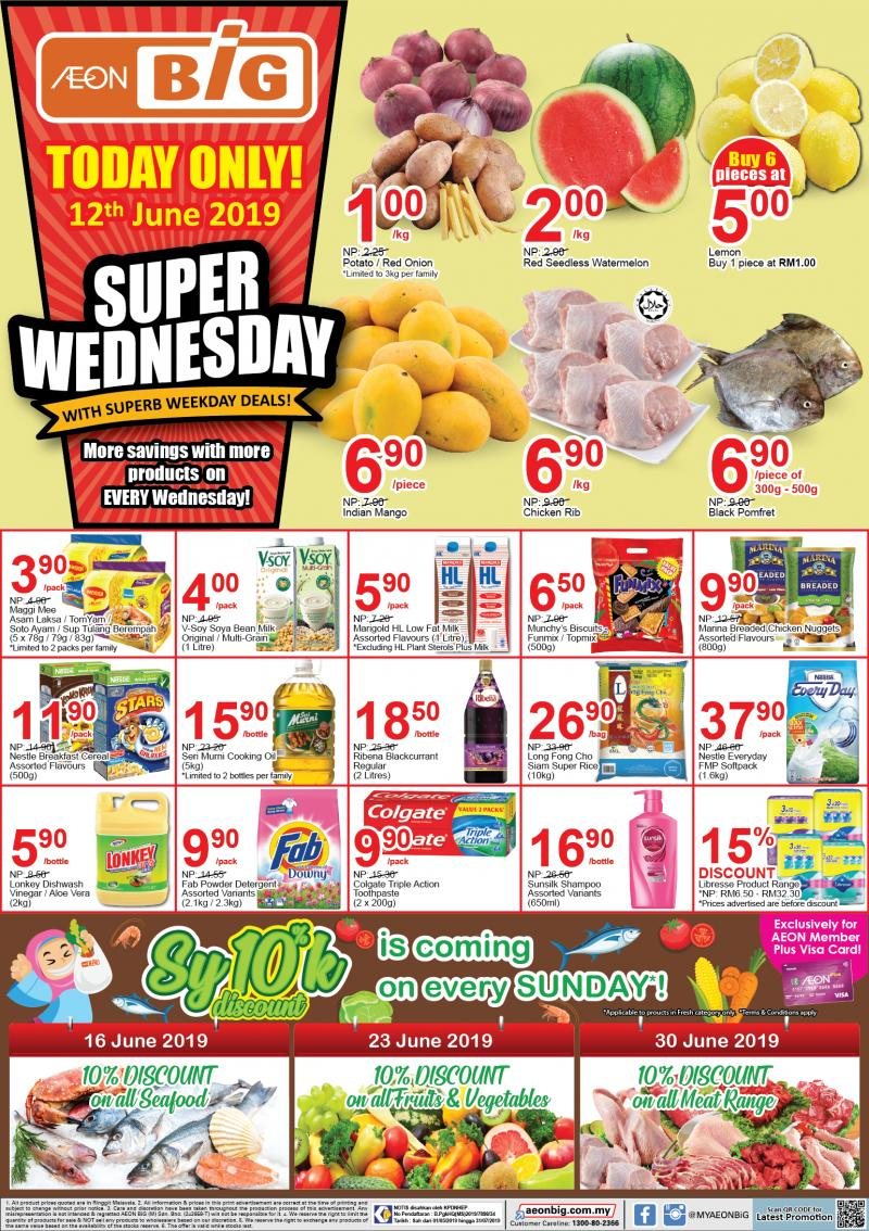 AEON BiG Super Wednesday Promotion (12 June 2019)