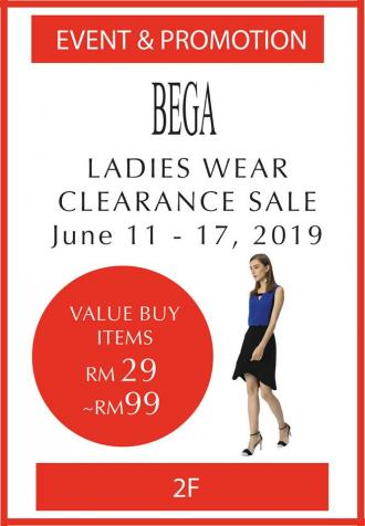 Isetan 1 Utama BEGA Ladieswear Clearance Sale (11 June 2019 - 17 June 2019)