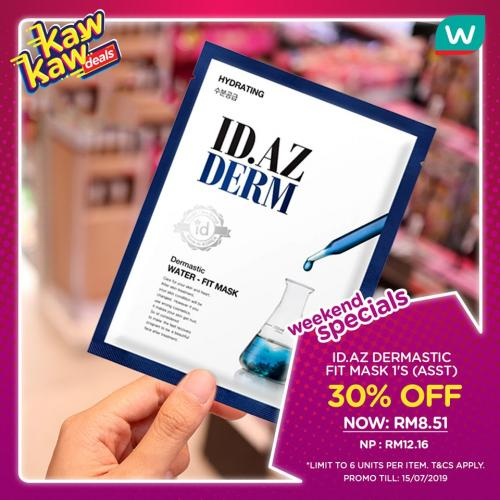 Watsons Weekend Promotion Discount Up To 50% (12 July 2019 - 15 July 2019)