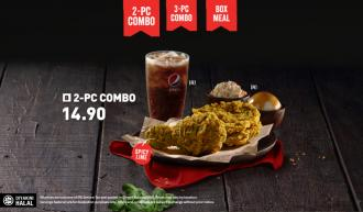 KFC Green Chili Crunch Combo from RM14.90