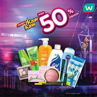 Watsons Weekend Promotion Discount Up To 50% (19 July 2019 - 22 July 2019)
