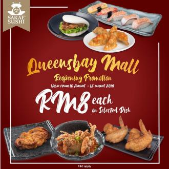 Sakae Sushi Queensbay Mall Reopening Promotion RM8 on Selected Dish (10 August 2019 - 12 August 2019)