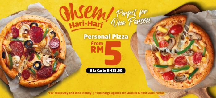Domino's Pizza Ohsem Hari-Hari Promotion Personal Pizza from RM5