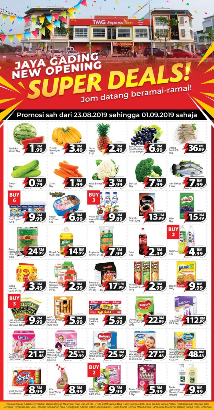 TMG Express 3000 Jaya Gading Opening Promotion (23 August 2019 - 1 September 2019)