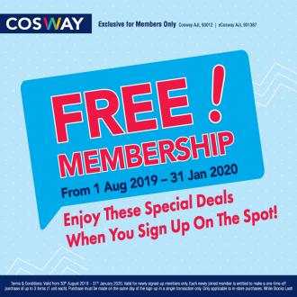 Cosway FREE Membership Promotion (valid until 31 January 2020)