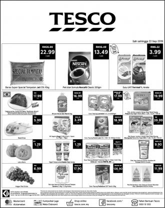 Tesco Weekend Promotion (20 September 2019 - 22 September 2019)