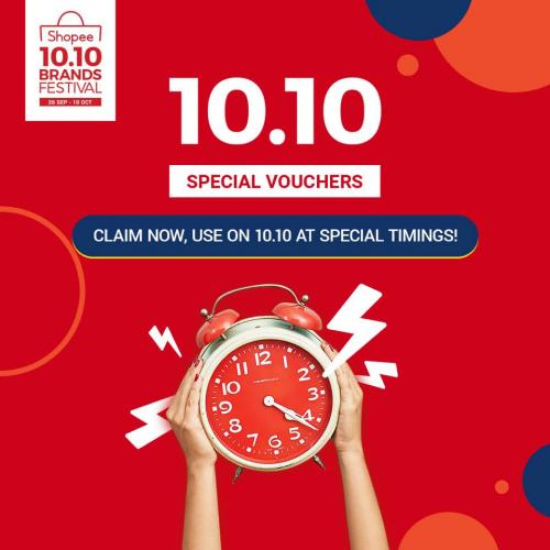 Shopee 10.10 Brands Festival Sale FREE Vouchers