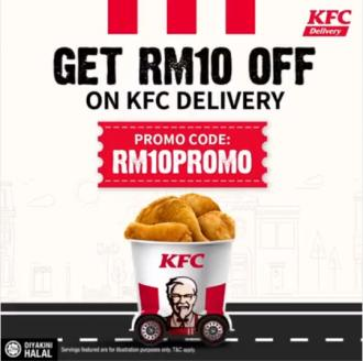 KFC Delivery RM10 OFF Promo Code Promotion