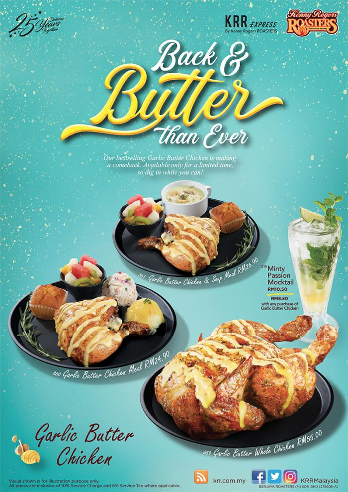 Kenny Rogers ROASTERS Garlic Butter Chicken (21 October 2019 - 19 January 2020)