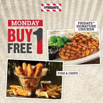 TGI Fridays Wisma Jotic Johor Bahru Buy 1 FREE 1 Promotion (every Monday)