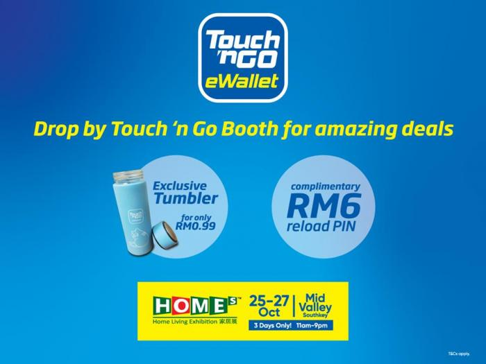 Touch N Go Ewallet Free Rm6 Reload Pin Promotion At Home Living Exhibition Mid Valley Southkey