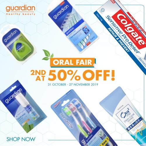 Guardian Oral Fair Promotion 2nd at 50% OFF (31 October 2019 - 27 November 2019)