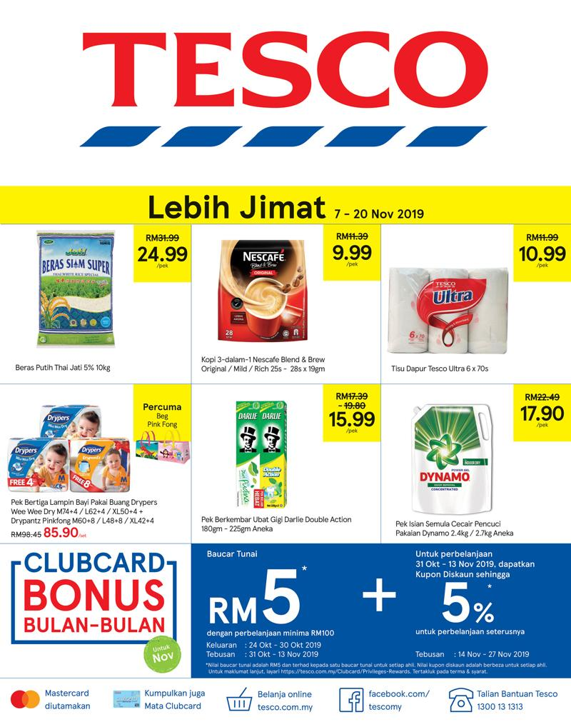 Tesco Promotion Catalogue (7 November 2019 - 20 November 2019)