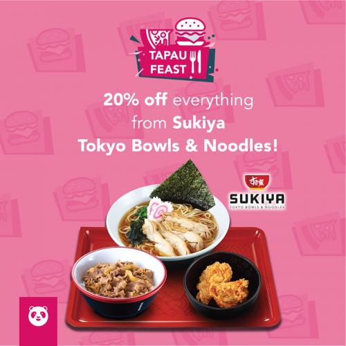 Food Panda Sukiya 20% OFF Promotion