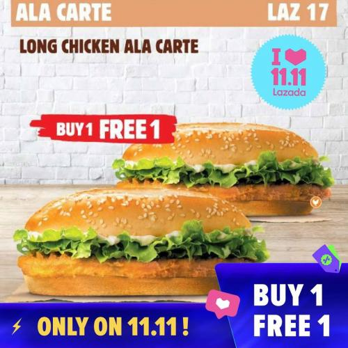 Burger King 11.11 Flash Sale RM11 Deals Promotion on Lazada (11 November 2019)