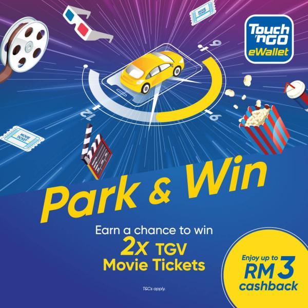 Touch 'n Go eWallet Park & Win TGV Movie Tickes Promotion (11 November 2019 - 22 December 2019)