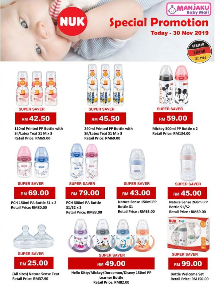 Manjaku NUK Special Promotion (valid until 30 November 2019)