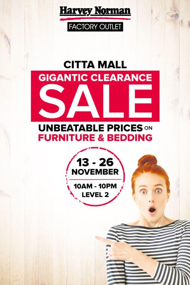 Harvey Norman Citta Mall Gigantic Clearance Sale (13 November 2019 - 26 November 2019)
