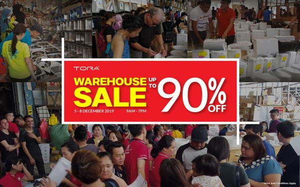 TORA Warehouse Clearance Sale Up To 90% OFF (5 December 2019 - 8 December 2019)