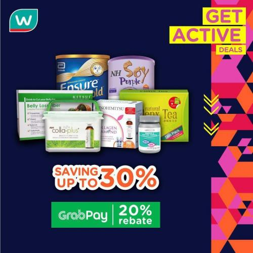 Watsons GetActive Promotion Up To 30% OFF (5 December 2019 - 9 December 2019)