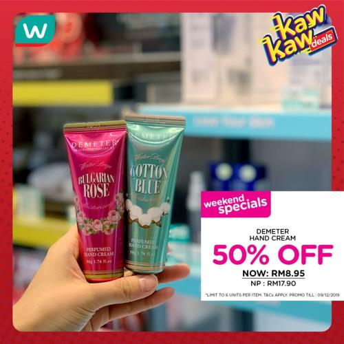 Watsons Cosmetics Promotion Sale Up To 50% OFF (6 December 2019 - 9 December 2019)