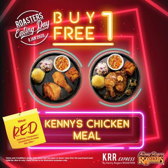 Kenny Rogers Roasters Eating Day Buy 1 Free 1 Promotion 8 January 2020