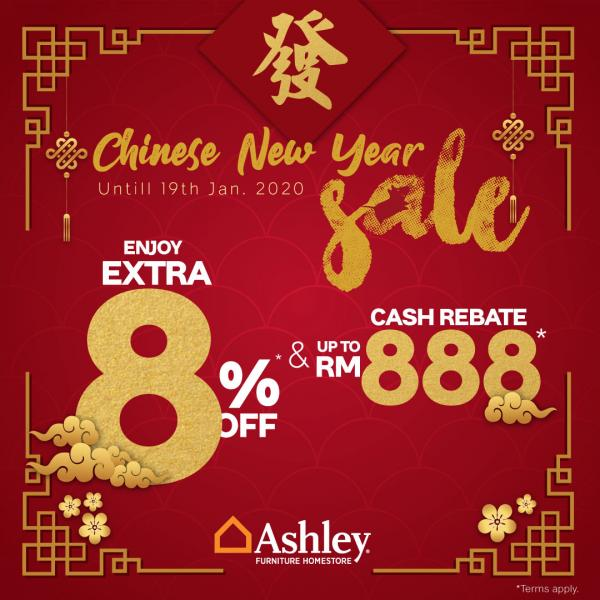 End Year Sale Ashley Furniture: Ashley Furniture HomeStore Chinese New Year Sale 2020 (3
