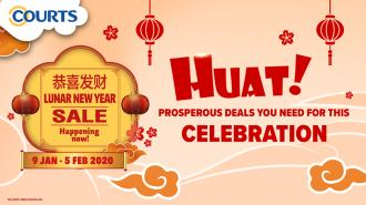 COURTS Lunar New Year Sale (9 January 2020 - 5 February 2020)