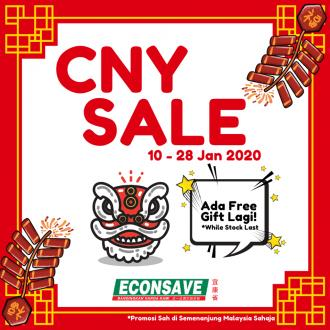 Econsave CNY Sale with FREE Gift Promotion (10 January 2020 - 28 January 2020)