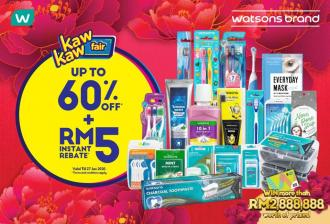 Watsons Brand Products Sale Up To 60% OFF (22 January 2020 - 27 January 2020)