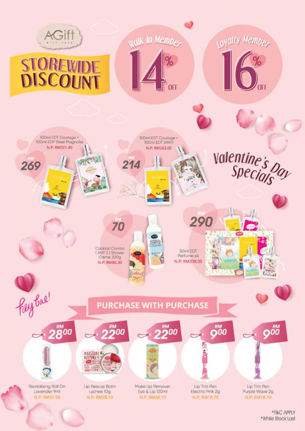 AGift Valentine's Day Promotion Storewide 14% Discount (27 January 2020 onwards)