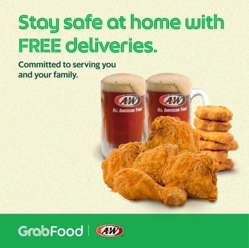 A&W FREE Delivery Promotion on GrabFood